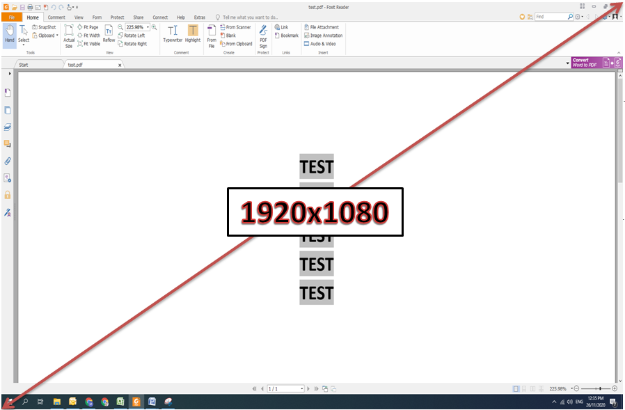 screen capture resolution