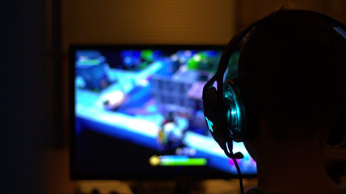 Gamer playing games