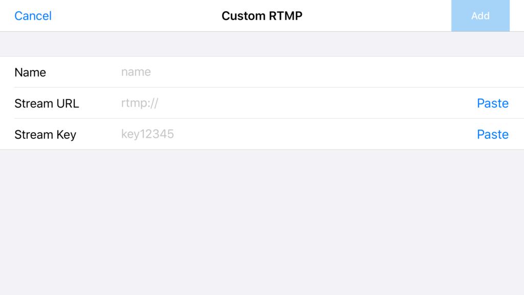 custom rtmp