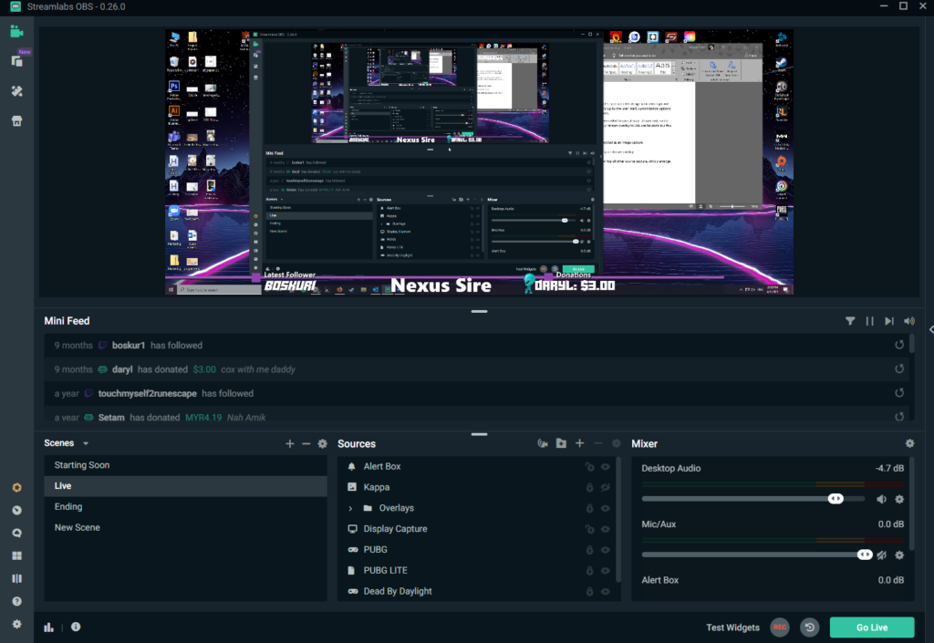 An example of a fully customized overlay