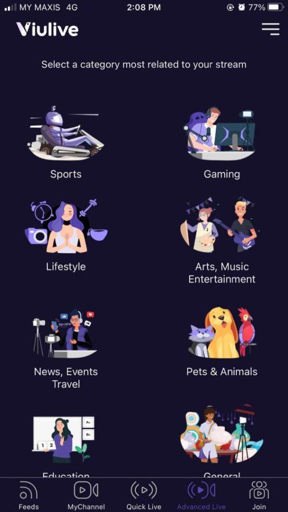 Stream categories